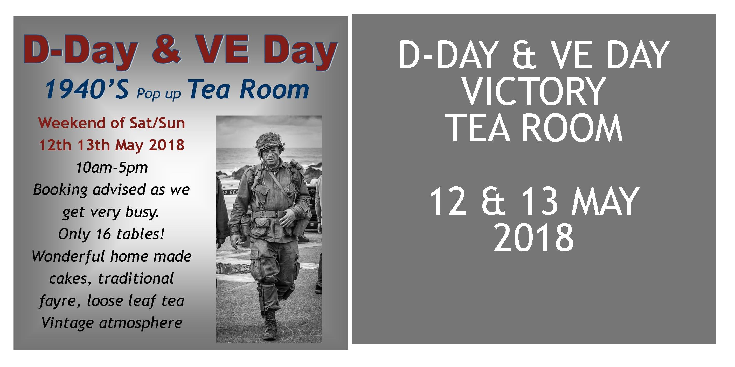 D Day Amp Ve Day 1940s Tea Room 12 Amp 13 May 2018 The