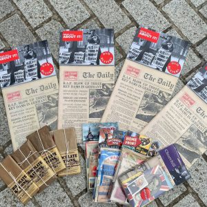 1940s Newspaper, Booklets and Ration Chocolate